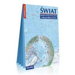 Świat Mapa polityczna i krajobrazowa laminowana mapa w formacie XXL 1:31 000 000 - Praca zbiorowa