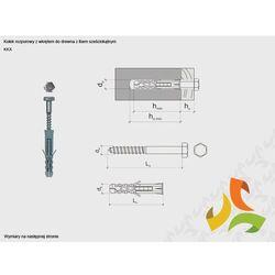 KKX 12/8x200 kołek rozporowy z łbem sześciokątnym (100szt)