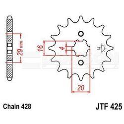 Zębatka przednia JT F425-14, 14Z, rozmiar 428 2200078 Suzuki GT 125, RM 85,
