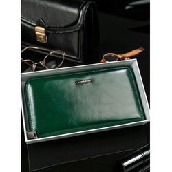 Lorenti Skórzany portfel damski zielony 76119