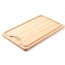 Drewniana deska z wycięciem do krojenia mięsa | 390x230mm