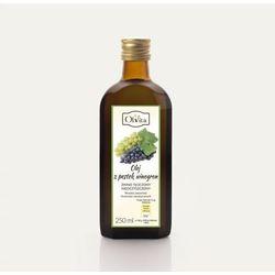 Olej z pestek winogron zimnotłoczony, nieoczyszczony 250ml