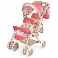 DeCuevas 90333 Składany wózek dla dwóch lalek z torbą Martina