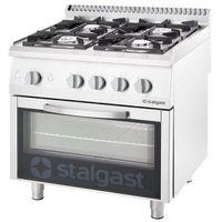 Piece i płyty grzejne gastronomiczne, Kuchnia gazowa 22,5 kW z piekarnikiem elektrycznym 600x400 STALGAST 9716210