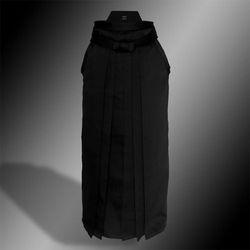heavy rayon-polyester hakama (czarny, szt.jedwab-poliester)