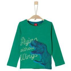 s.Oliver koszulka chłopięca z dinozaurem 116/122 zielona - BEZPŁATNY ODBIÓR: WROCŁAW!