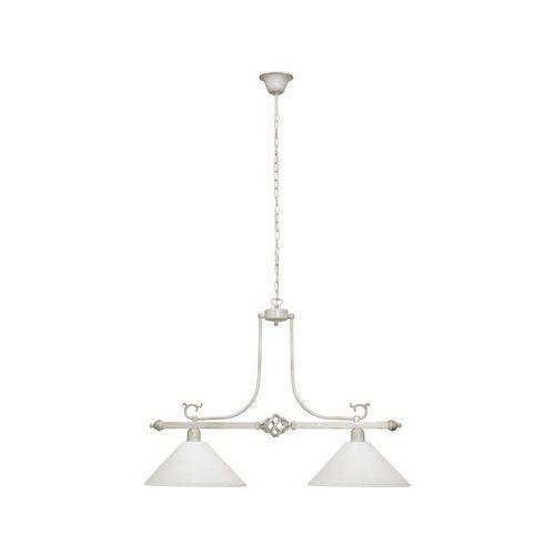 Lampy sufitowe, Lampa oprawa wisząca zwis Nowodvorski Cora 2x60W E27 biała 3486
