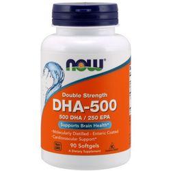 NOW FOODS DHA-500 Double Strength 500 DHA / 250 EPA - 180 kapsułek