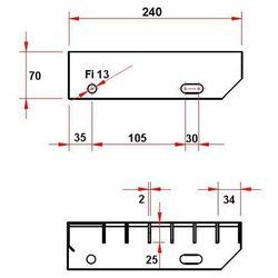 Stopień schodowy WEMA ocynk 34X38 25x2 L600 B240
