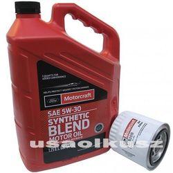 Oryginalny filtr oraz syntetyczny olej silnikowy Motorcraft 5W30 Ford Mustang 4,0 V6
