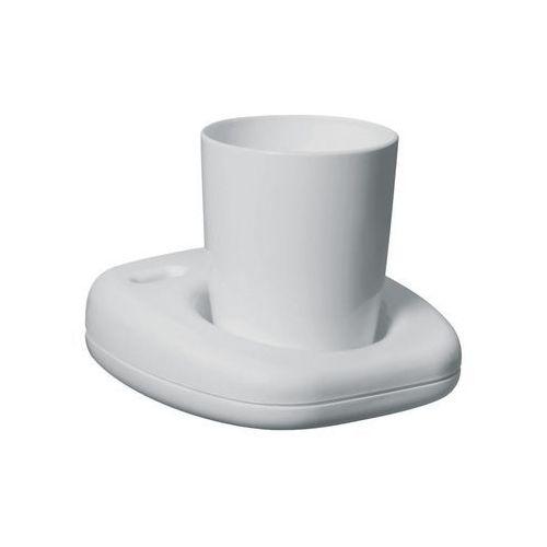 Kubki i szklanki, Kubek łazienkowy Bisk OCEANIC plastik biały