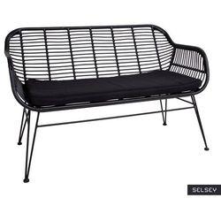 SELSEY Sofa ogrodowa Hesso z technorattanu czarna
