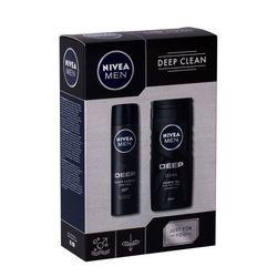 Nivea Men Deep zestaw Żel pod prysznic 250 ml + Antyperspirant 150 ml dla mężczyzn