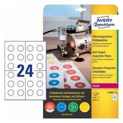 Avery zweckform Etykiety inspekcyjne - zabezpieczające Plomby Void, średnica 30mm okrągłe, do drukarki, 240 sztuk