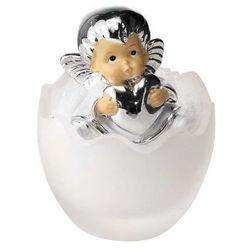 Figurka Aniołek w szklanym jajku z serduszkiem - (VB#538SC)