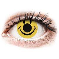 Soczewki kontaktowe, Soczewki kolorowe żółte SMILEY Crazy Lens 2 szt.