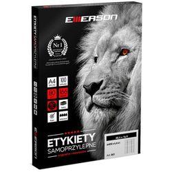 Etykiety samoprzylepne A4 Emerson, nr 4, wymiary 33 x 22 mm, opakowanie 100 arkuszy po 78 etykiet - Super Ceny - Autoryzowana dystrybucja - Szybka dostawa - Hurt - Wyceny
