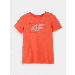 T-shirt dla małych chłopców JTSM117 - GRANATOWY