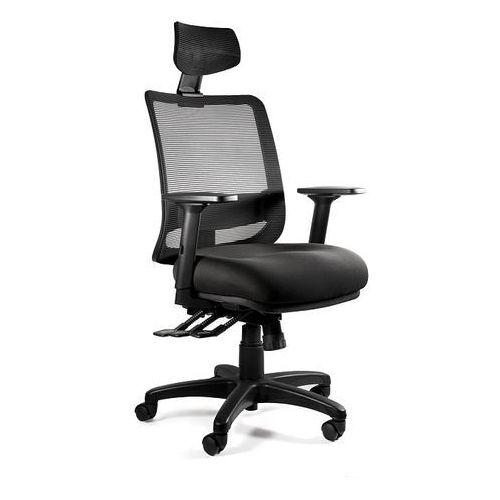 Fotele i krzesła biurowe, Fotel Unique SAGA PLUS - 18 KOLORÓW (Tkanina BL) wysuw siedziska