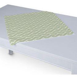 Dekoria Serweta 60x60 cm, biały geometryczny wzór na miętowym tle, 60 x 60 cm, Comics