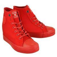 Damskie obuwie sportowe, BIG STAR AA274A088 czerwony, trampki, sneakersy damskie - Czerwony