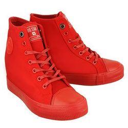 BIG STAR AA274A088 czerwony, trampki, sneakersy damskie - Czerwony
