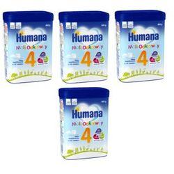Zestaw 3+1 gratis HUMANA 4 Mleko modyfikowane puszka 800g