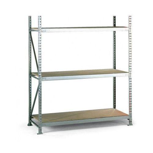 Regały warsztatowe, Regał półkowy, nośność 600 kg, 2500x2200x800 mm, podstawowy