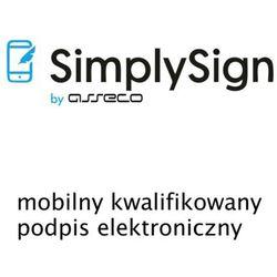 SimplySign - mobilny kwalifikowany podpis elektroniczny - odnowienie - 2 lata