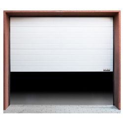 Segmentowa brama garażowa - 2375 x 2125 mm - biała