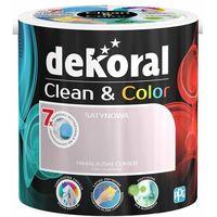 Farby, Satynowa farba lateksowa Dekoral Clean&Color himalajski cukier 2 5 l