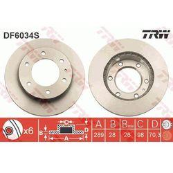 TARCZA HAM TRW DF6034S MAZDA B 2.5D 4WD 84KM 02-, BT-50 2.5 MRZ-CD 4X4 143KM 06-