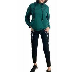 Bawełniany dres damski komplet De Lafense 496 Just zielony