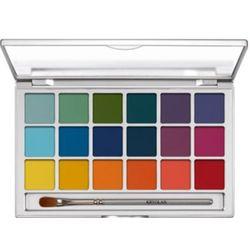 Kryolan EYE SHADOW VARIETY 18 COLORS (V2) Paleta 18 kolorów cieni do powiek - V2 (5318)