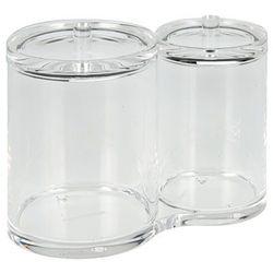 Pudełko na płatki kosmetycze i patyczki do uszu, 2 komory