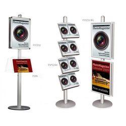Display wolnostojący 2x3 z zaokrąglonymi narożnikami B2(500x700mm)