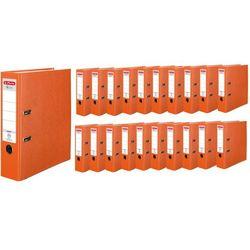 Segregator A4 8cm 80mm 20 sztuk Q.File HERLITZ - pomarańczowy