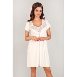 Koszulka nocna Koszula Ciążowa Model 3012 Ecru - Lupo Line