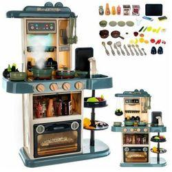 Kuchnia zabawkowa 72cm niebieska z parą
