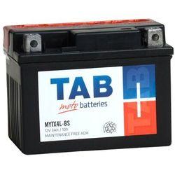Akumulator motocyklowy TAB YTX4L-BS (MYTX4L-BS) 12V 3Ah 40A P+