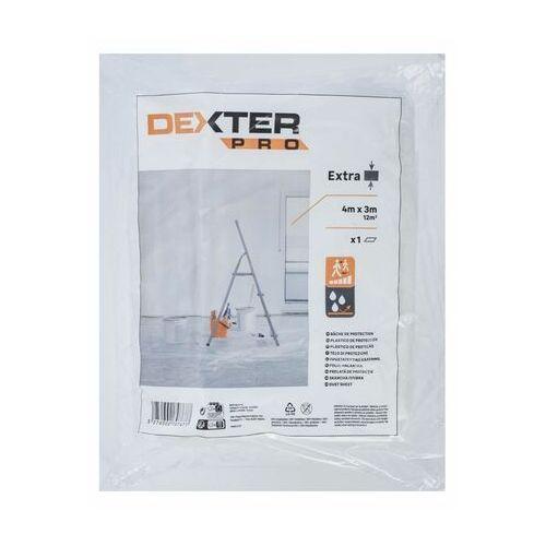 Pozostałe narzędzia ręczne, Folia malarska EXTRA 4 x 3 m DEXTER PRO