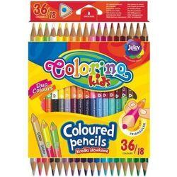 Kredki trójkątne dwustronne 36 kolorów - COLORINO