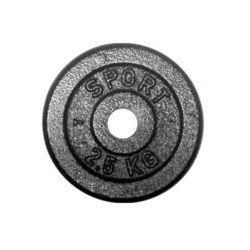 Obciążenie żeliwne 2,5 kg czarne fi 31 mm (okrągłe) Kelton