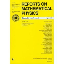 Reports on Mathematical Physics 71/2 (opr. miękka)