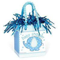 Opakowania prezentowe, Obciążnik do balonów napełnionych helem Mini torebka prezentowa Słonik z parasolem - 178 g.