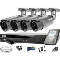 Zestawy monitoringowe, 4x BCS-B-DT42812 2560×1440 4MPx BCS Basic zestaw do monitoringu Dysk 1TB Akcesoria