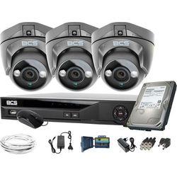 ZM11948 Monitoring kamera 3x BCS-DMQE1500IR3-G BCS-XVR04014KE-II 1TB