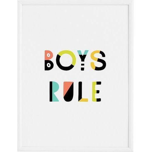 Plakaty, Plakat Boys Rule 21 x 30 cm