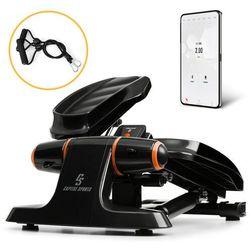 Capital Sports Galaxy Step, ministepper, pedały wysokiej jakości, wyświetlacz LCD, aplikacja, pomarańczowy