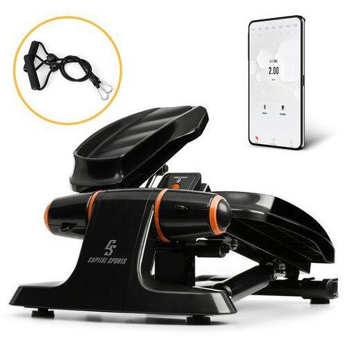 Steppery, Capital Sports Galaxy Step, ministepper, pedały wysokiej jakości, wyświetlacz LCD, aplikacja, pomarańczowy